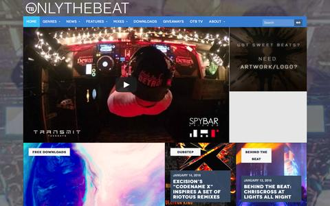 Screenshot of Home Page onlythebeat.com - OTB | Electronic Dance Music News and Free Downloads - captured Jan. 15, 2016