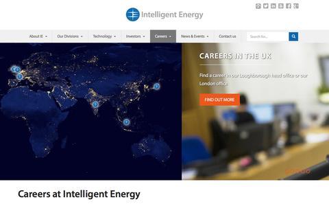 Screenshot of Jobs Page intelligent-energy.com - Careers | Intelligent Energy - captured Dec. 3, 2015
