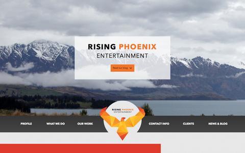Screenshot of Blog rphoenix.com.au - Blog » RISING PHOENIX ENTERTAINMENT - captured Oct. 7, 2014