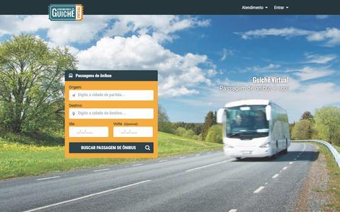 Screenshot of Home Page guichevirtual.com.br - Passagem de ônibus é aqui | Guichê Virtual - captured Sept. 23, 2018