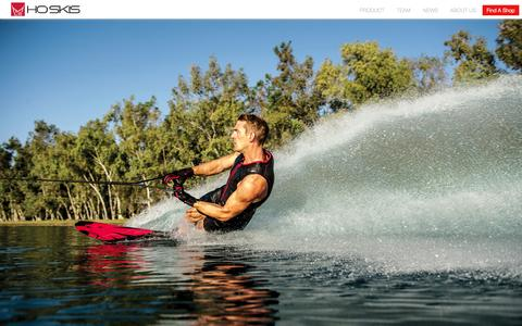 Screenshot of Home Page hosports.com - Water Skis - Water Skiing Equipment - HO Sports - captured Sept. 19, 2014