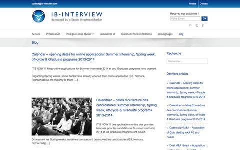 Screenshot of Blog ib-interview.com - IB Interview Blog - IB Interview - captured Sept. 30, 2014