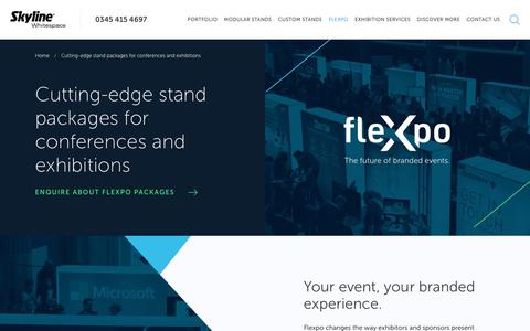 Screenshot of Team Page skylinewhitespace.com - FleXpo | Stand Packages for Conferences & Exhibitions | Skyline Whitespace - captured July 24, 2018
