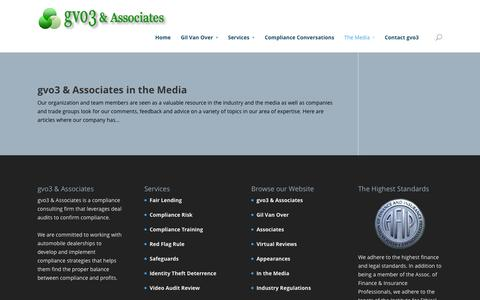 Screenshot of Press Page gvo3.com - In The Media | gvo3 & Associates - captured Oct. 3, 2014