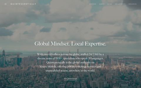 Screenshot of Contact Page quintessentially.com - Global Lifestyle Management & Concierge Services | Quintessentially - captured Sept. 24, 2018