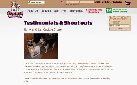 Cuddle Clones Reviews and Testimonials