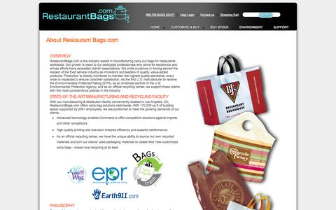 Screenshot of About Page restaurantbags.com - About Restaurant Bags - captured Oct. 8, 2014