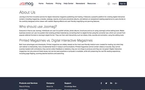 About Joomag