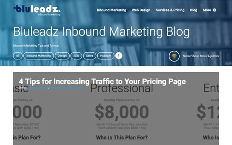 Screenshot of Blog bluleadz.com - Bluleadz Inbound Marketing Blog - captured Feb. 8, 2016