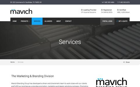Screenshot of Services Page mavich.com - Services - Mavich - captured Nov. 17, 2016