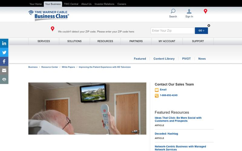 Improving the Patient Experience with HD Television