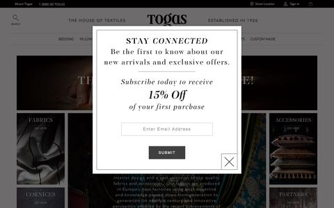 Screenshot of About Page togas.com - Custom Made - Togas - captured May 6, 2017