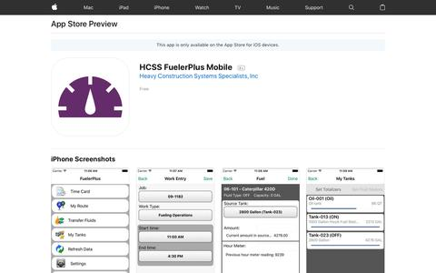 HCSS FuelerPlus Mobile on the App Store