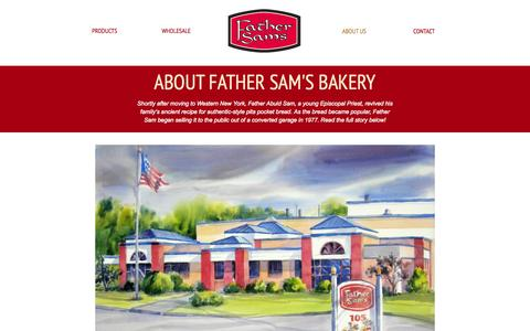 Screenshot of About Page fathersams.com - About Us - Father Sam's - captured Oct. 27, 2014