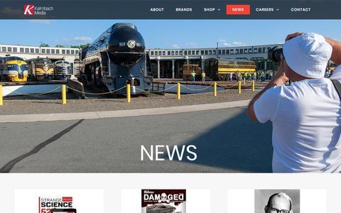 Screenshot of Press Page kalmbach.com - News – Kalmbach Media - captured Sept. 22, 2018