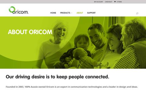 Screenshot of About Page oricom.com.au - About Oricom - captured Sept. 23, 2018