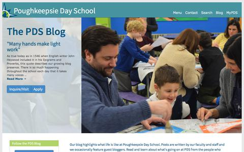Screenshot of Blog poughkeepsieday.org - Poughkeepsie Day School | PDS Blog - captured Aug. 17, 2017