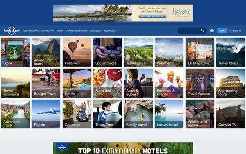 Screenshot of Home Page lonelyplanet.com - Lonely Planet - captured Sept. 19, 2014