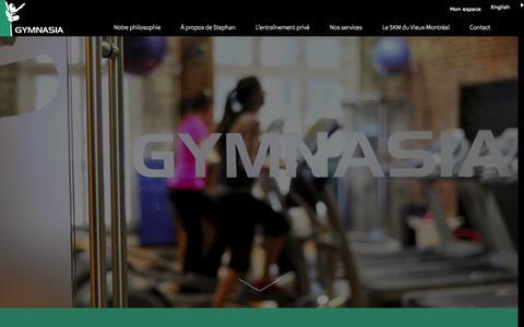 Screenshot of Home Page studiogymnasia.com - Gym|Entraînement personnel|Vieux Montréal|Studio Gymnasia - captured Aug. 16, 2015