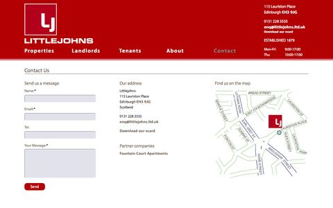 Screenshot of Contact Page littlejohns.ltd.uk - Contact   Littlejohns - captured Oct. 3, 2014