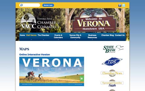 Screenshot of Maps & Directions Page veronawi.com - Verona Area Chamber of Commerce - captured Oct. 26, 2014