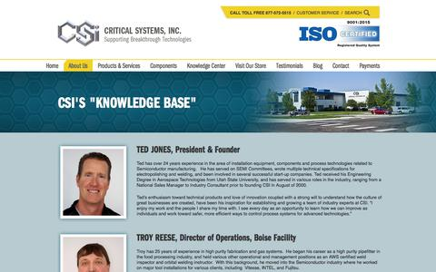 Screenshot of Team Page criticalsystemsinc.com - Leadership | Critical Systems, Inc. - captured July 23, 2018