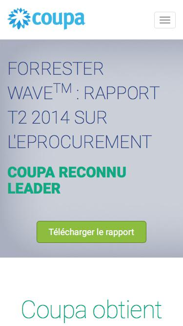 Coupa | Rapport Forrester Wave T2 2014 sur l'approvisionnement électronique