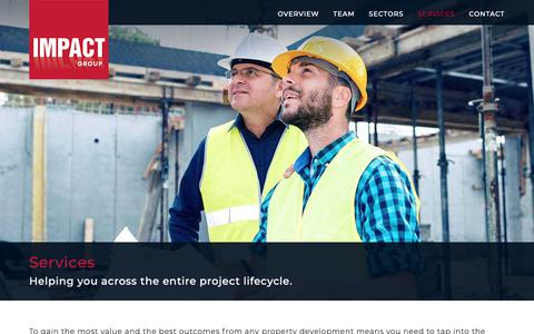 Screenshot of Services Page impactgroup.com.au - Services - Impact Group - captured Nov. 6, 2018