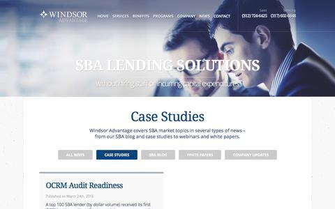 Screenshot of Case Studies Page windsoradvantage.com - Case Studies Archives - Windsor Advantage - captured June 13, 2017