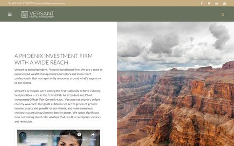 Screenshot of Jobs Page versantcm.com - PHOENIX INVESTMENT FIRM | INVESTMENT FIRM SCOTTSDALE - captured Oct. 20, 2018