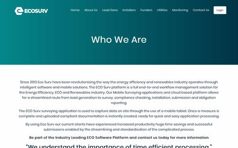 Screenshot of About Page eco-survuk.co.uk - Eco Surv | about-us - captured Sept. 27, 2018