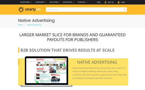 Screenshot of smartyads.com - Programmatic Native Advertising Platform — SmartyAds - captured May 31, 2017