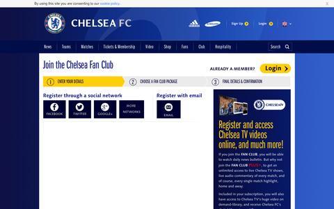 Screenshot of Signup Page chelseafc.com - Fan Club Registration - captured Sept. 18, 2014