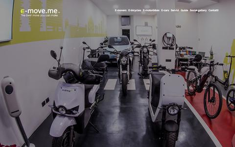 Screenshot of Home Page e-move.me - E-move.me - The best move you can make | Electric Mobility - captured Sept. 25, 2018