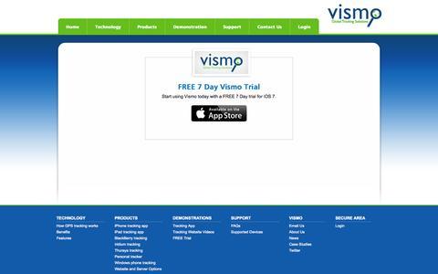 Screenshot of Trial Page vismo.com - Vismo Trial       | Vismo - captured Oct. 26, 2014
