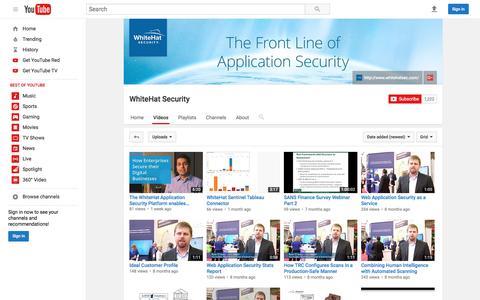 WhiteHat Security  - YouTube
