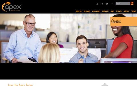 Screenshot of Jobs Page apexsupplychain.com - Careers - Apex Supply Chain Technologies - captured May 17, 2017