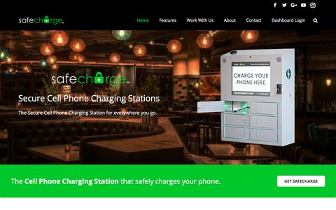 Screenshot of Home Page thesafecharge.com - Secure Cell Phone Charging Stations & Lockers | SafeCharge - captured June 15, 2017