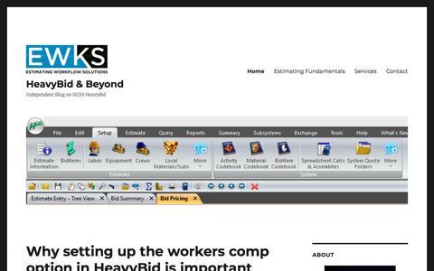 HeavyBid & Beyond | Independent Blog on HCSS HeavyBid