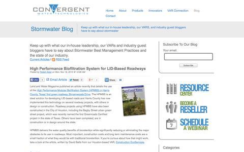 Screenshot of Blog convergentwater.com - Blog - captured Oct. 3, 2014