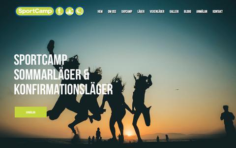 Screenshot of Home Page sportcamp.se - Konfirmationsläger & Sommarläger | SportCamp - captured Sept. 21, 2018