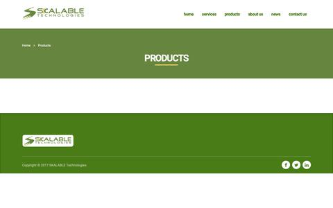 Screenshot of Products Page skalabletech.com - Products - captured Oct. 2, 2018
