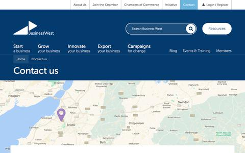 Screenshot of Contact Page businesswest.co.uk - Contact us | Business West - captured June 3, 2017