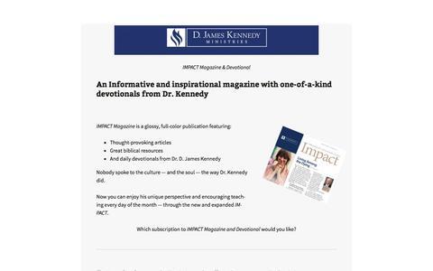 Screenshot of Landing Page djameskennedy.org - D. James Kennedy Ministries - captured May 3, 2016