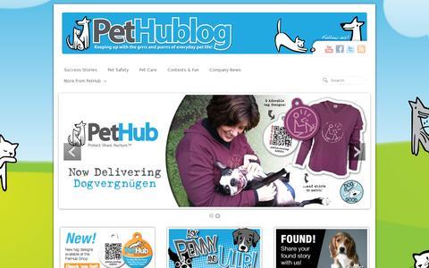 Screenshot of Blog pethub.com - | Welcome to the PetHub Blog! - captured July 19, 2014
