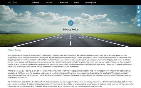 Screenshot of Privacy Page matchbyte.com - Matchbyte.com - Privacy Policy - captured Feb. 12, 2016