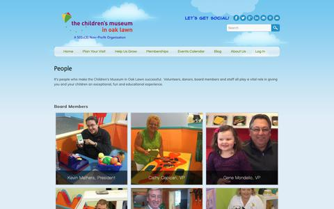 Screenshot of Team Page cmoaklawn.org - People - Children's Museum in Oak Lawn - captured Sept. 27, 2018