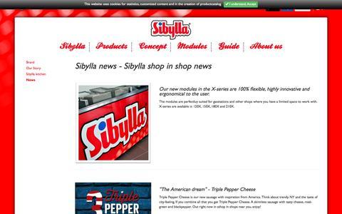 Screenshot of Press Page sibyllashopinshop.com - News - SibyllaSibylla shop in shop - captured Nov. 19, 2016
