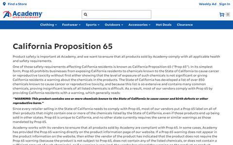 California Disclaimers | Academy