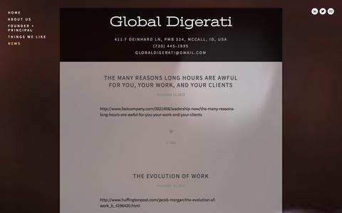 Screenshot of Press Page globaldigerati.com - news — global digerati - captured Oct. 2, 2014